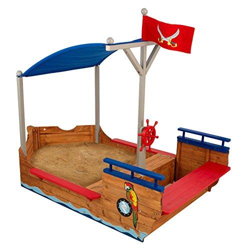 Sandkasten Piratenschiff mit Dach